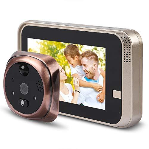 VBESTLIFE Visor de Mirilla Inteligente Timbre WiFi Cámara Viewer de Puerta 720P 4.3 Pulgadas HD Pantalla Intercomunicador Visible por Teléfono Inducción del Cuerpo Humano