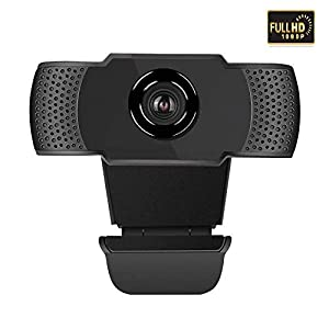 Aguoxing 1080P Webcam with Dual Microphones for Video Calling Gaming Conferencing, Laptop or Desktop USB PC Webcamera, USB Computer Camera for Mac YouTube Skype Fast Autofocus Plug in and Play
