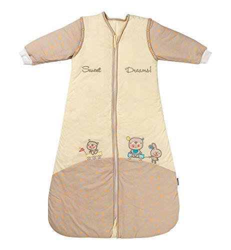 Slumbersac - Sacco nanna imbottito per tutto l'anno, 2,5 Tog, con maniche rimovibili, 70 cm, 0-6 mesi