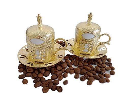 Türkische, griechische, arabische, marokkanische Kaffeetasse (goldfarben)