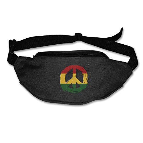 TAOHJS76 Men's and Women's Belt Bag Fit All Phone Models and Fit All Waist Sizes Rasta Flag Peace Best for Running, Workouts, Cycling, Travelling