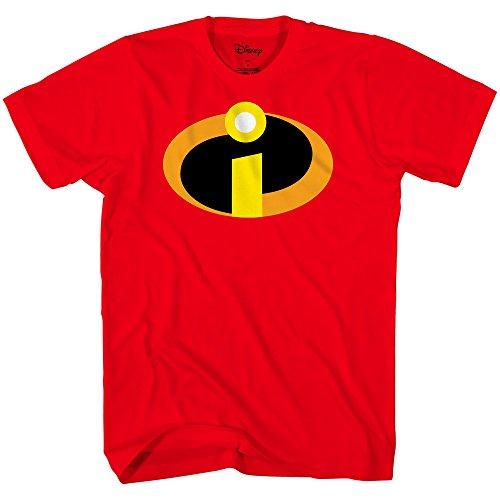 Disney The Incredibles Movie Basicon Logo Icon Camiseta de Disfraz - Rojo - X-Small