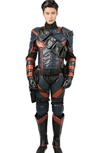 Deluxe Supervillain Armor Costume Outfit Suit for Mens Halloween L
