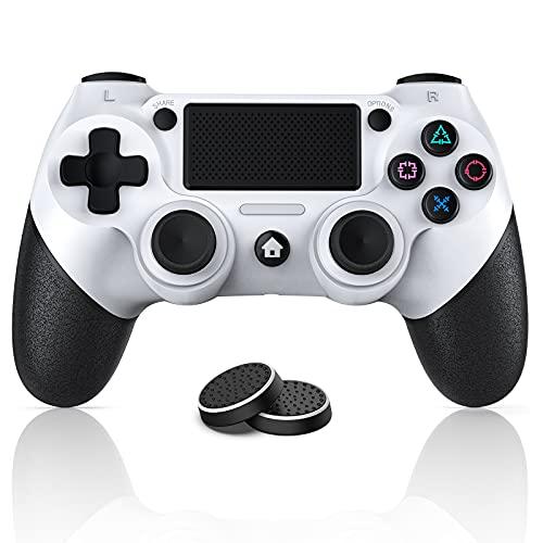 PS4コントローラー CELIMO プレステ4コントローラー Bluetooth無線接続 fpsフリーク付き 600mAh大容量電池 デュアルショック4 イヤホンジャック付き 快適化されたボタン モーションセンサーと振動機能付き TURBO機能設定でき 日本語取扱説明書付き