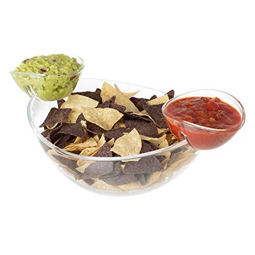 AVGDeals Chip and Dip Bowl Parties Entertaining Parties Space Saving Salsa 3 Pc Set