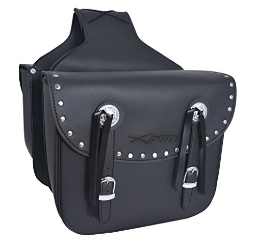 A-pro Custom Motorcycle Biker Renforced Saddle Bag Luggage Chopper Saddle Bags