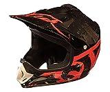 Casco Motocross per Bambino Moto Cross Enduro ATV MX BMX Quad Nero Lucidare - Rosso - XS (51-52cm)