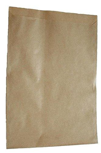 Papiertüten braun flach 17,5x23cm (300St.) von BLÜHKING®
