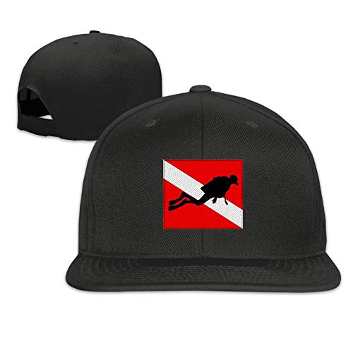 Doormats-shirt Gorra de béisbol ajustable Snapbacks gorra de béisbol gorra Trucker – Bandera de buceo con buzo
