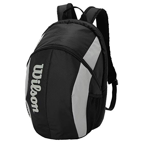 Wilson(ウイルソン) テニス バドミントン ラケットバッグ FEDERER TEAM BACKPACK(フェデラー チーム バックパック) ラケット2本収納可能 BLACK WR8005901 ウィルソン