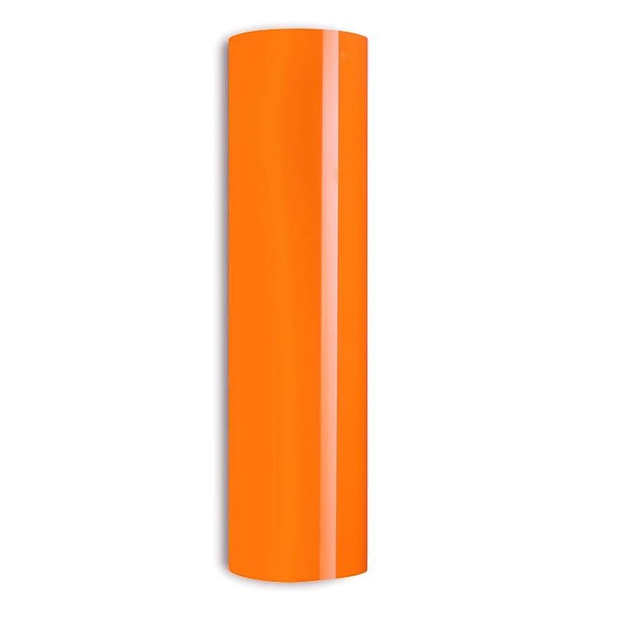 Neon Orange Heat Transfer Vinyl HTV for T-Shirts 10 Inches by 5 Feet Roll (Fluorescent Orange)