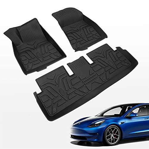 Fit Tesla Model 3 Floor Mats TPE Car Floor Mats All Weather Protection Tesla Model 3 Accessories 2017-2021 (Floor Mats) -  Bomely