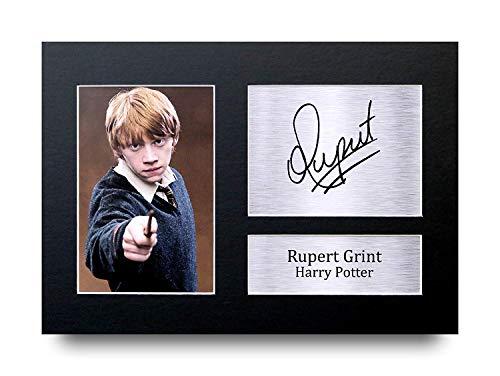 HWC Trading Rupert Grint A4 Sin Marco Regalo De Visualización De Fotos De Impresión De Imagen Impresa Autógrafo Firmado por Ron Weasley Harry Potter Los Aficionados Al Cine