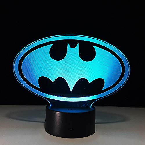 Batman 3D LED Light USB Creative 3D Lighting Visual Night Light Batman Superhero Character Toy