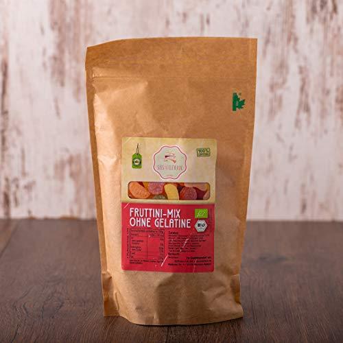 süssundclever.de® Bio Fruchtgummi Mix | gezuckert | vegan | 500 g | Premium Qualität: hochwertiges Naturprodukt | plastikfrei abgepackt in ökologisch-nachhaltiger Bio-Verpackung