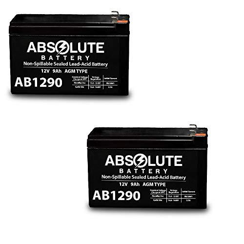 Price comparison product image 2 Pack 12V 9AH SLA Battery for Razor e200 / e200s / e225 / e300 / e300s / e325