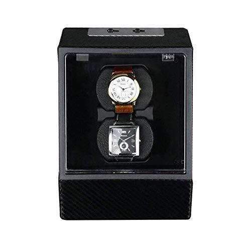 Agitador Mecánico automático Ebony Shine Watch Box Winder 2 Giradiscos Swayer En Sentido horario En Sentido antihorario Caja de rotación