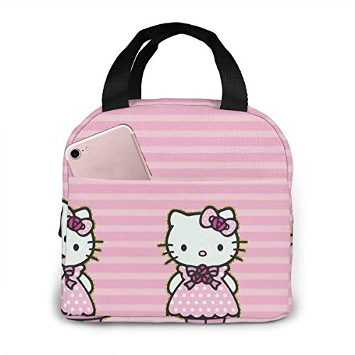 Sac à déjeuner isotherme Hello Kitty avec robe rose - Boîte à déjeuner isotherme - Récipients de préparation des repas pour femme, homme, enfant