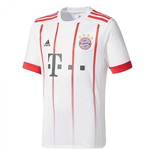 adidas FCB UCL JSY Camiseta, Hombre, Blanco/Rojfcb, S