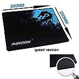 Rakoon Gaming Mauspad Computer Mousepad Spiel Internet Bar Big Mouse Mat Geschwindigkeitsregelung Version Locking Edge für PC Laptop Gamer-300x250mm_speed