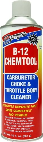 Berryman (0120C-12PK) B-12 Chemtool Carburetor/Choke and Throttle Body Cleaner - 20 oz., (Pack of 12)