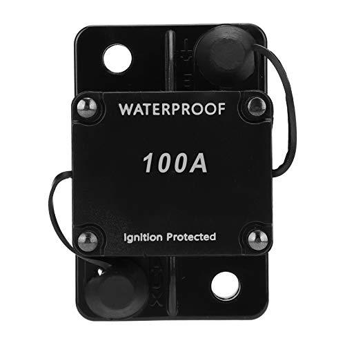 Disyuntor, Portafusibles de Reinicio Automático, Interruptor Automático Resistente al Agua DC12‑24V HT ‑ 608 con Protección Contra Sobrecorriente Protección Contra Sobretensión(100A)
