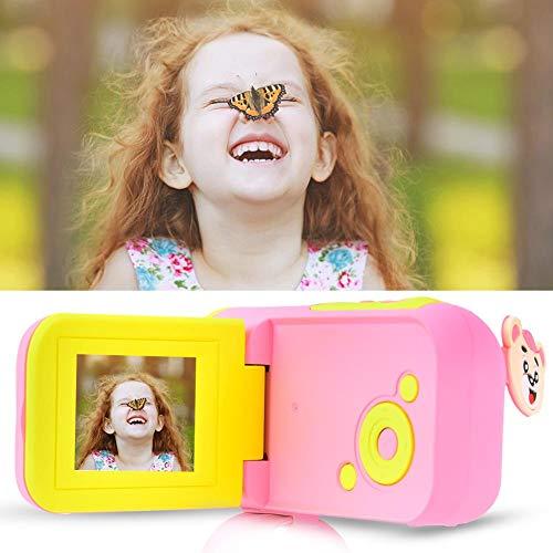 Exliy Kids Digital Video Camera, Kinder Kamera Kinder Digitalkameras Spielzeug, 1,7-Zoll-HD-TFT-Display Digitalkamera Große Geschenke für Kinder Geschenke(Rosa)