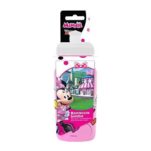Disney Minnie, Borraccia da Ciclismo Bambina, Rosa, 380ml