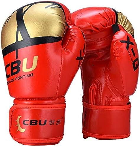 Gants de boxe en microfibre Boxe Muay Thai, MMA, Kick-Boxing, Matériel de boxe pour entraîneHommest, Mitaines de sac, Mitaines de mise au point Divers gants (Couleur   rouge)
