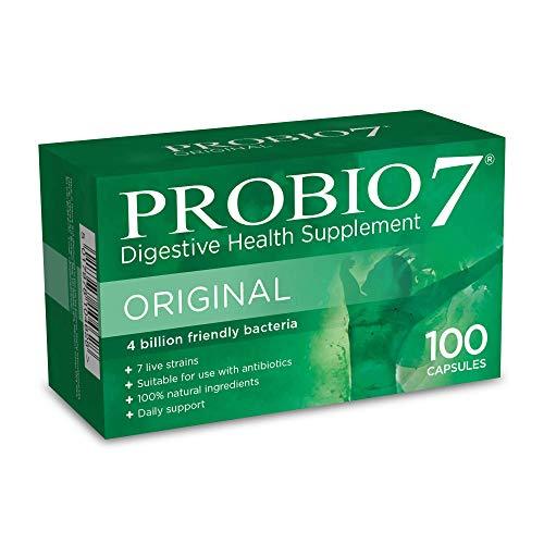 Probio7 Original | 7 Live Strains | 4 Billion CFU + 2 Types of Prebiotic Fibre | Digestive Health Supplement (100 Capsules)