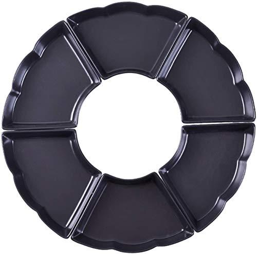 Cuenco RamenPlato Cena de cerámica Apilable Ahorre espacio en el gabinete Horno de microondas Refrigerador Vajilla Forma de abanico1215