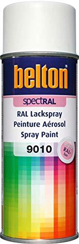 belton spectRAL Lackspray RAL 9010 reinweiß, matt, 400 ml - Profi-Qualität