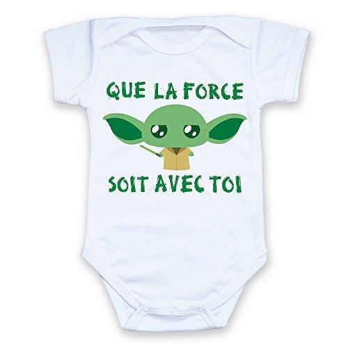 Body bébé Yoda Que la Force Soit avec toi (Star Wars) Chibi et Kawaii - Chamalow Shop (3/6 Mois - 62/68 cm)