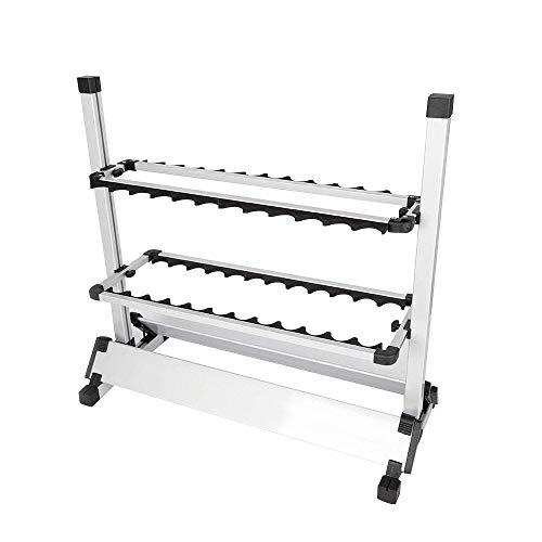 OUBAYLEW Rutenständer Angelruten Rutenhalter Halterung für 24 Ruten Aluminium Rutenstäender DE