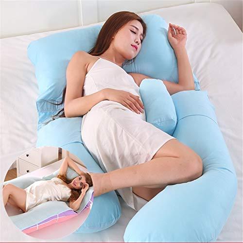 Almohada De Maternidad, Dispositivo Soporte Expandible para Todo Cuerpo En Forma G para La Espalda, Las Nalgas, Piernas Y El Abdomen Las Mujeres Embarazadas (2,80 * 180 * 110cm)