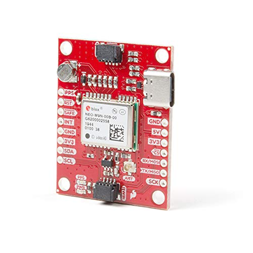 SparkFun GPS Breakout - NEO-M9N, U.FL (Qwiic) Breakout No Soldering Required Breadboardable Contains a Rechargeable Backup Battery Allowing a Warm-Start decreasing time-to-First-fix