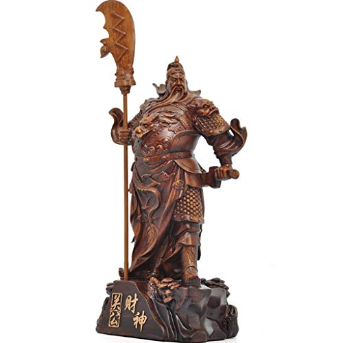 Seated Buddha Statue Buddha, Resin Crafts Stereo Guan Gong Mythology Figure Decoration For Living Room Bedroom Bookcase Desktop Home Carving Art Ornaments Decoration Gifts Zen Decor Spiritual Decor