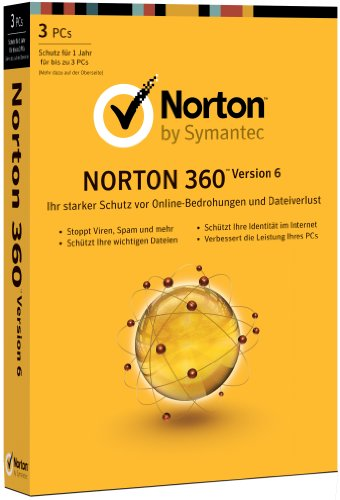 Norton 360 V6 (3 postes, 1 an) [import allemand]