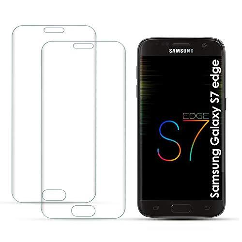 Carantee Panzerglas Schutzfolie für Samsung Galaxy S7 Edge, [2 Stück] 9H Härtegrad, 3D-gebogenen Rand Kante Volle Bedeckung Displayschutzfolie, Anti-Kratzen, HD Clear Panzerglasfolie für S7 Edge