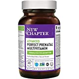 New Chapter Advanced Perfect Prenatal Vitamins - 48ct, Organic, Non-GMO Ingredients for Healthy Baby & Mom - Folate (Methylfolate), Iron, Vitamin D3, Fermented with Whole Foods and Probiotics