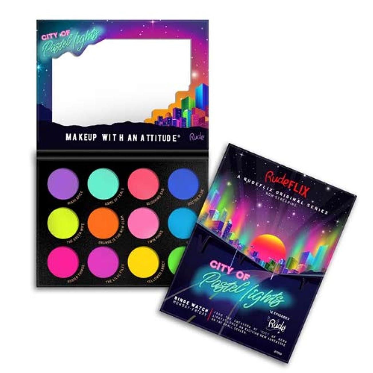 強い化学マリナーRUDE City of Pastel Lights - 12 Pastel Pigment & Eyeshadow Palette (3 Pack) (並行輸入品)