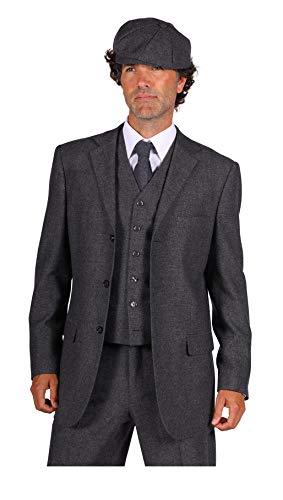 narrenkiste T3064-1600-58 Peaky Blinder - Chaqueta para hombre (talla 58), color gris
