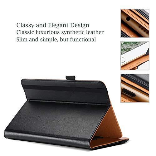 ProCase Universal Hülle für Tablet bis 10.1 Zoll Case Verstellbar Cover 9 9.7 Zoll mit Multi Blickwinkeln Kartentasche, PU Lederständer Klapphülle für 9