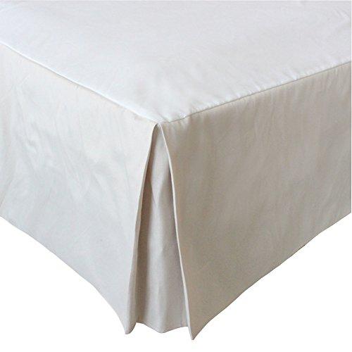 MUZIDP Polyester-Baumwolle bettrock,Elastischen Falten Staub Hotel bettwäsche extra- Weißer Reis 200x200x35cm(79x79x14inch)