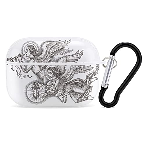 Custodia per cuffie con disegno a mano con inchiostro e penna, per iPhone AirPods 3 PC custodia rigida liscia resistente alle macchie.