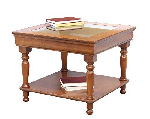 Arteferretto Table Basse Plateau en Verre Style Louis Philippe