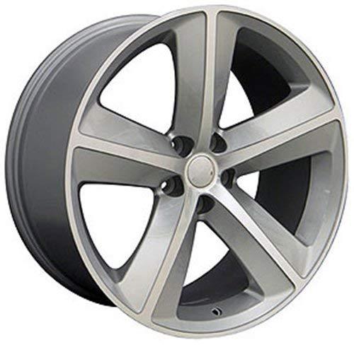 OE Wheels LLC 20 Inch Fits Dodge Challenger Charger SRT8 Magnum Chrysler 300 SRT8 DG05 Silver Mach'd 20x9 Rim Hollander 2357