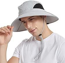 EINSKEY Sun Hat for Men/Women, Sun Protection Wide Brim Bucket Hat Waterproof Breathable Packable Boonie Hat for Fishing Light Gray
