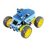 EmNarsissus Ciencia Educación Aleación de Aluminio Cuatro Ruedas Cool Sports Car Programación Secundaria Estructura Modular App Control Robot