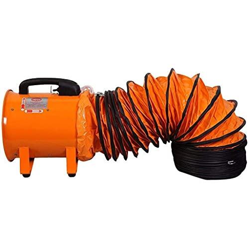 XYSQ Ventilador De Ventilador Industrial Ventilador Portátil De 12 Pulgadas Ventilador De Metal Axial De Aire Ventilador De Ventilación De Taller Ventilador Multifuncional Extractor De Humos